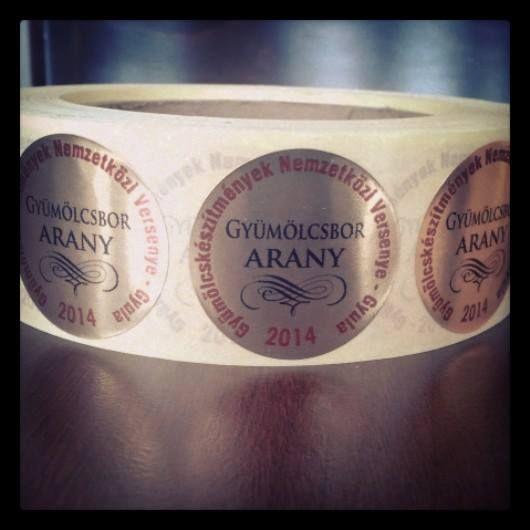 Gold for the Barrique Sour Cherry Wine - A Barrique Meggybor aranyérme
