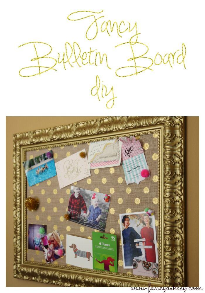 Fancy Bulletin Board DIY // Fancy Ashley