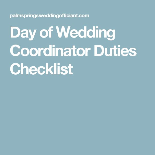 day of wedding coordinator duties checklist charlie 39 s
