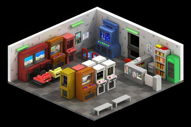 Arcade Game Room on Behance