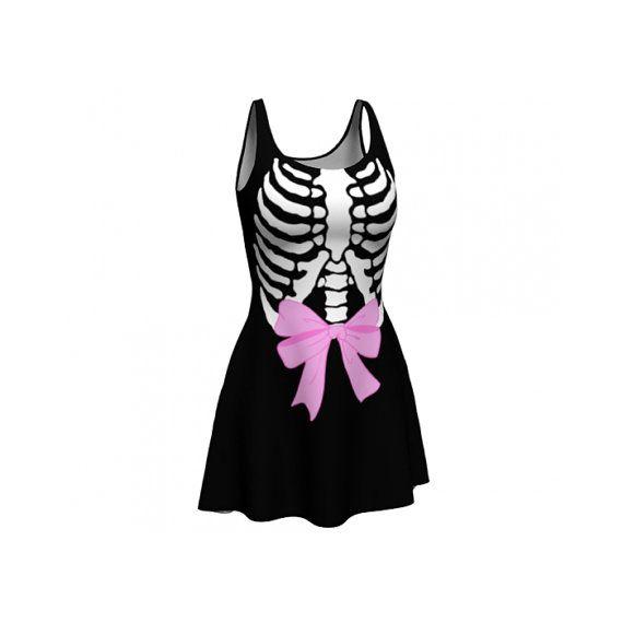 Zwarte ribbenkast Skater jurk van starryeyedbowtique op Etsy