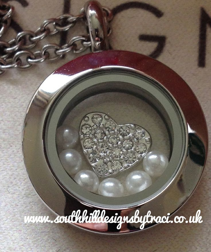 Perfect Bridesmaid Gift - South Hill Designs Silver Mini Locket by Independent Artist Traci Cornelius Purchase at:-www.southhilldesigns.com/getcreativewithtraci