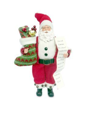 Santa's Workshop 12-Inch Santa Stocking Full Of Gifts - Red - One Size