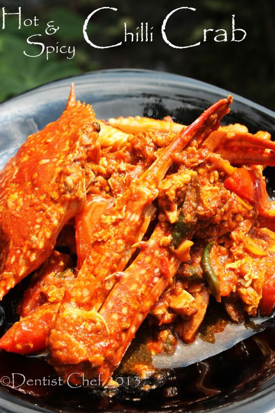 Kepiting saus Padang - hot and spicy chili crab