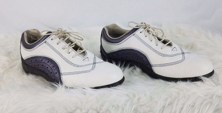 Footjoy Mens Golf Shoes Size 7M Lo Pro Collection Black White 97086 Leather #FootJoy