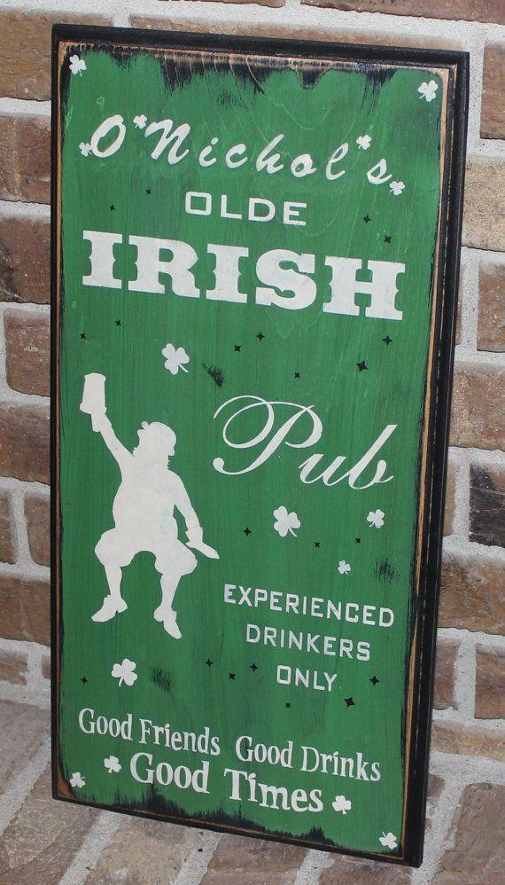 Personalized Irish Pub Sign  Good by TheGingerbreadShoppe on Etsy, $34.95