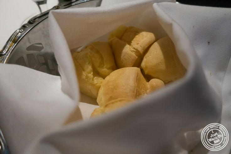 image of cheese bread or pao de queijo at Fogo De Chao Brazilian steakhouse in NYC, New York
