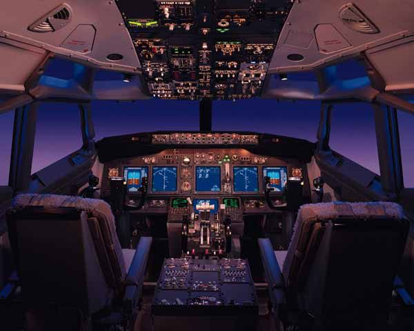 737-700 flight deck. Looking forward to a day's work.