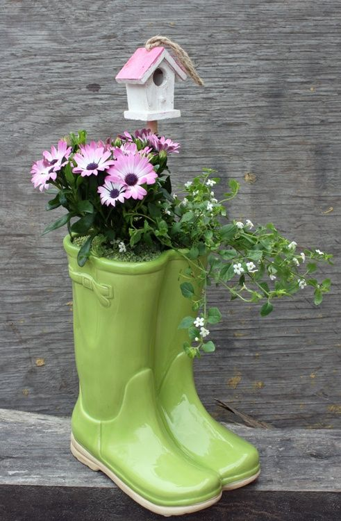 186 best rain boot planters images on pinterest boots flower gorgeous rain boots planter ideas that you will love solutioingenieria Choice Image