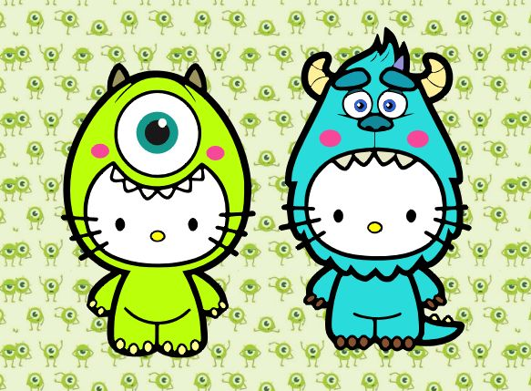 Monsters Inc. Hello Kitty SVG | Dainty Scraps