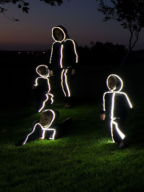 led stick figure costume glow with shock and awe - Halloween Led Costume