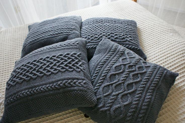 zopfmuster kissen knitting pinterest zopfmuster. Black Bedroom Furniture Sets. Home Design Ideas