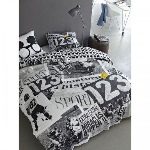 Dekbedovertrek Covers & Co Sports news leuk in een slaapkamer met humoristisch thema of sport thema | Hip Beddengoed
