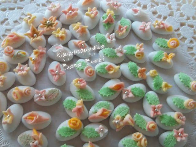 Κουζινοπαγίδα της Bana Barbi: Στολισμένα κουφέτα γάμου με ζαχαρόπαστα