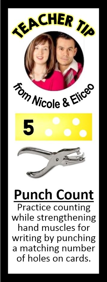 Strengthen hand muscles while counting & punching!