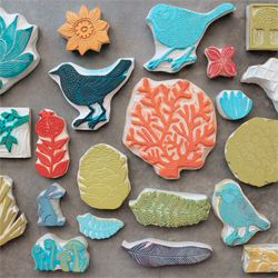handcarved stamps by Geninne. Flickr image: http://www.flickr.com/photos/geninne/6342372722/in/photostream/