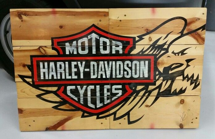 Harley-Davidson on Pallet