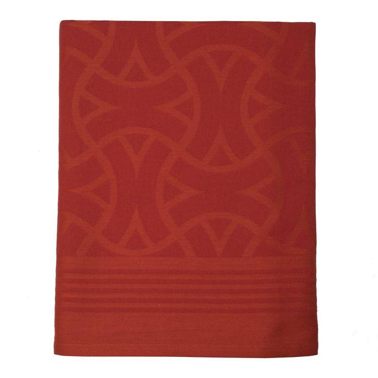 """Le Jacquard Français 'Maillons' 55 x 102"""" Tablecloth, Leather – HOPSON GRACE"""