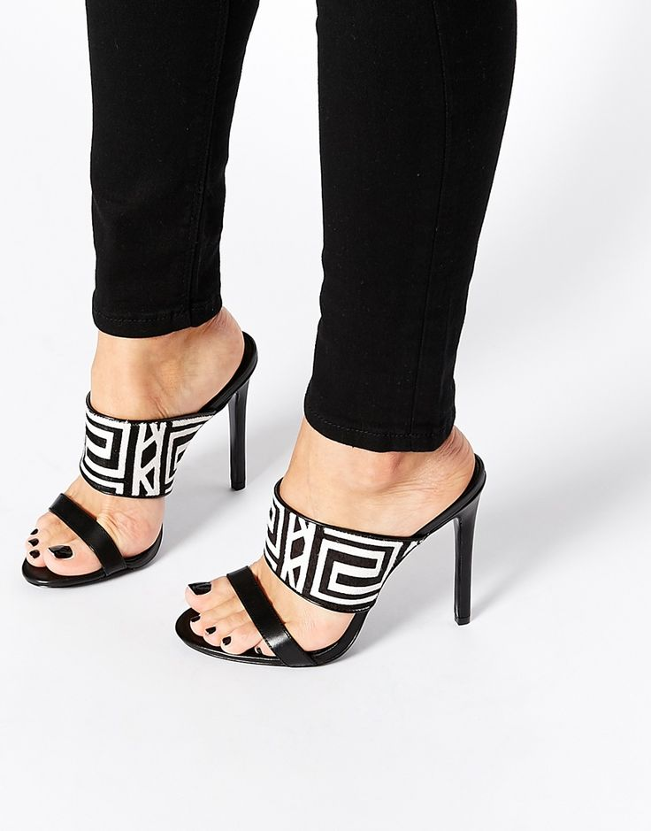 KG By Kurt Geiger Mono 2 Strap Mule Heeled Sandals £95.00