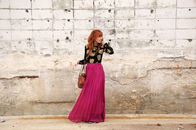 Dressy maxi pink skirt