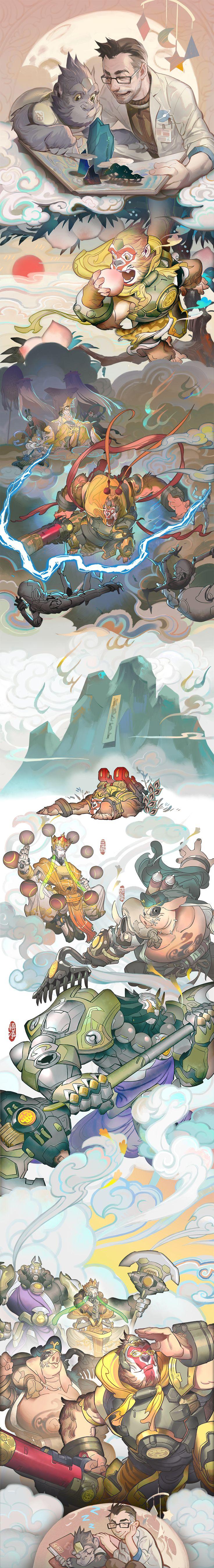 Overwatch - Winston Shīnto Illustration