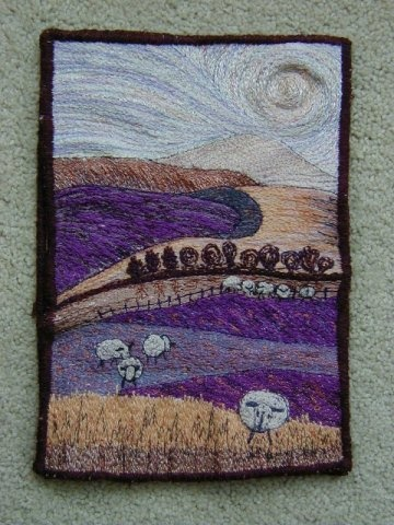 Dorset Hills - Machine stitching on canvas - Wendy Hermelin