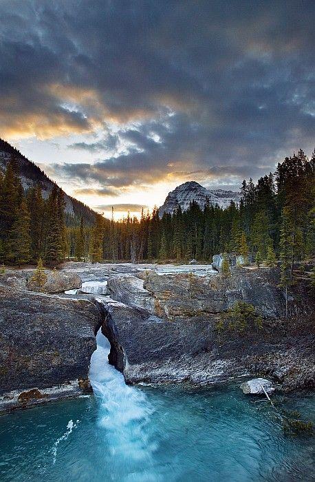 Kicking Horse River at the Natural Bridge, Yoho National Park,British Columbia, Canada; photo by Darwin Wiggett
