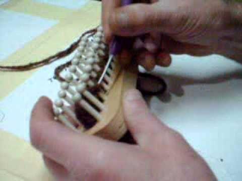 comment terminer un foulard au tricotin long pour mon amie louise celine pinterest. Black Bedroom Furniture Sets. Home Design Ideas
