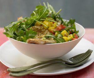 Rezept: Rucola-Mango-Salat