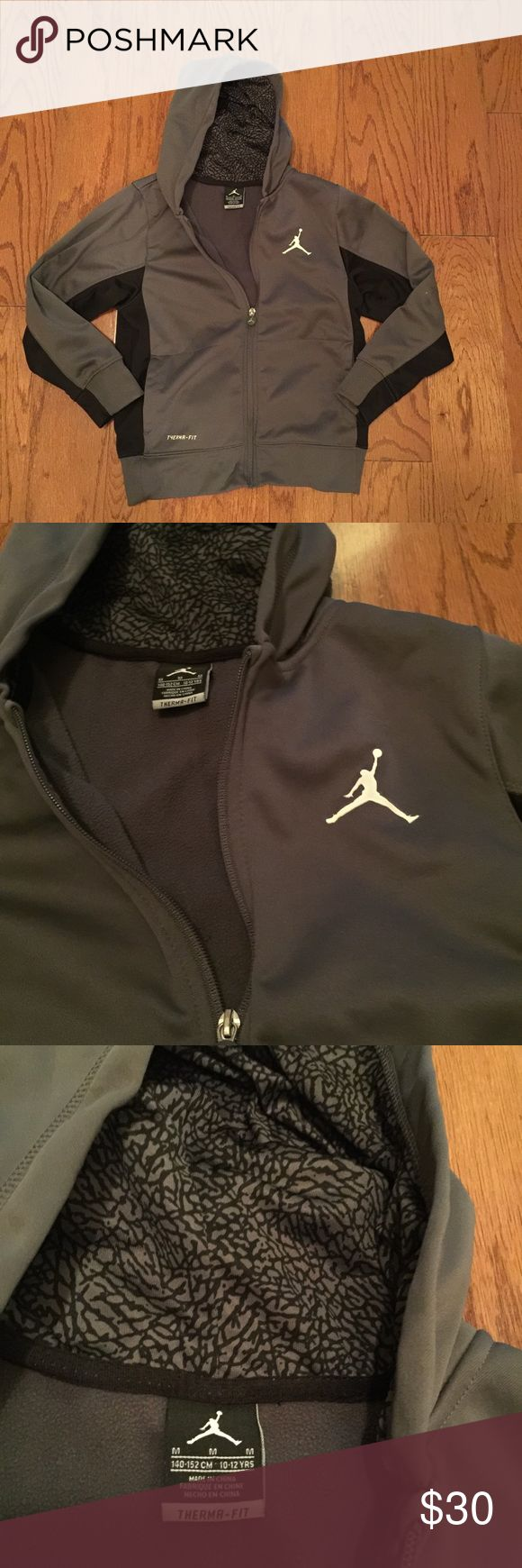 Boys/youth Air Jordan jacket Good condition, minor spot on sleeve. Size on tag is a 10-12. Air Jordan Jackets & Coats