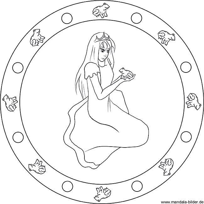 Mandala aus dem Märchen der Froschkönig - Märchenbild