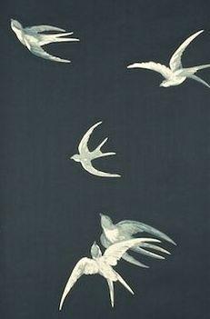Swallows (W) by Sanderson Wallpapers papier peint