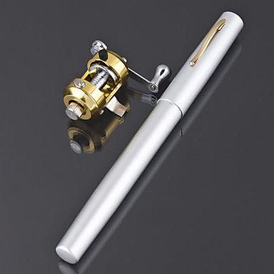 Mini vara de pesca + carretel / caneta de carbono vara de pescar à linha e carretel de combinação (cor aleatória) – BRL R$ 30,44