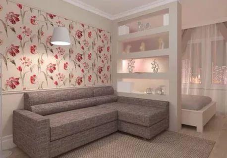 разделение зон в однокомнатной квартире фото: 20 тыс изображений найдено в Яндекс.Картинках