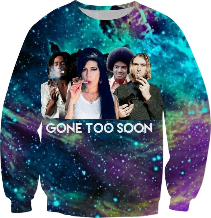 'Gone too soon' design inspired by my favorite musicians namely: Amy Winehouse, Michael Jackson, Bob Marley & Kurt Cobain set in an augmented Star Infested