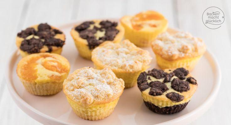 Grundrezept für schnelle Käsekuchen-Muffins mit Streuseln, Mandarinen oder Schokolade (Zupfkuchenmuffins). Knusprig, cremig und soo lecker!