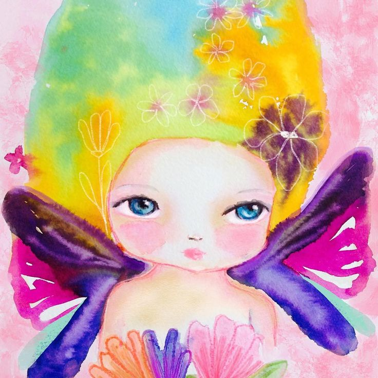 Fairies with butterfly wings are back 🦋  .  #fairy #butterflywings #youcanfly #watercolor #illustration #painting #sweetarts #dollface #colorfulart #soulart #creativelife #createeveryday #🦋 #pursuepretty #sweetness #susanatavares #goodvibes #natureinspired #drawing #mixedmediaart #artistsoninstagram