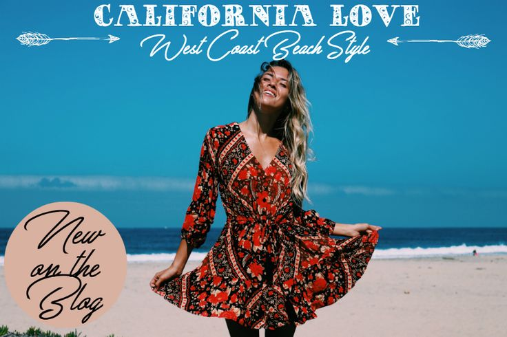 New on the Mahiya Boho Fashion Blog >> California Love: West Coast Beach Style with Melody Wright of Tan Lines Bikini Blog.
