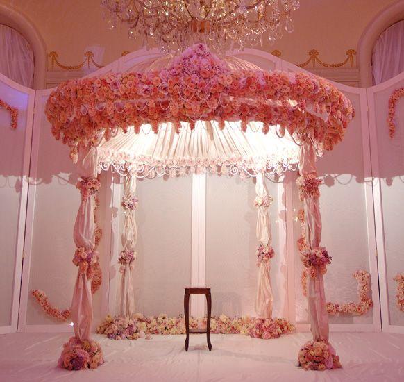 wedding arch, indian wedding mandap, floral mandap  #indianwedding, #shaadibazaar