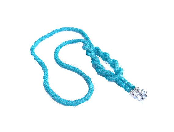 Turqouise blue long necklace lariat type beads by MyLaceSpace, $79.00