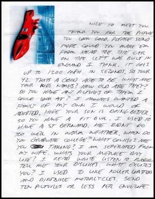 richard ramirez letter with envelope and drawing for sale really geezzzz true crime pinterest letters drawings and for sale