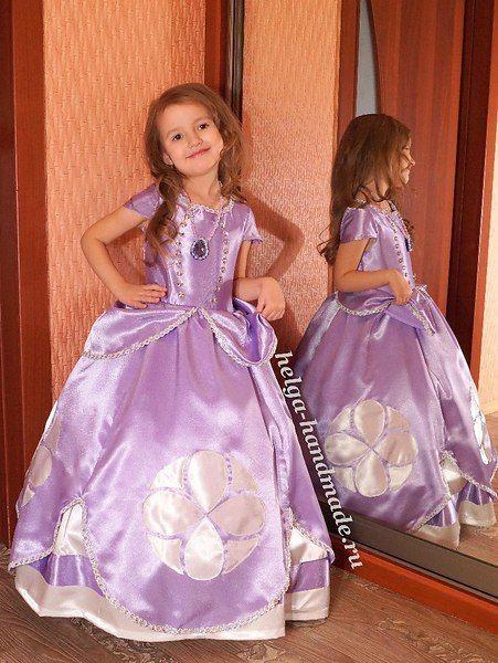 Шьем девочкам платье Принцессы Софии из мультфильма «София Прекрасная» своими руками. ...