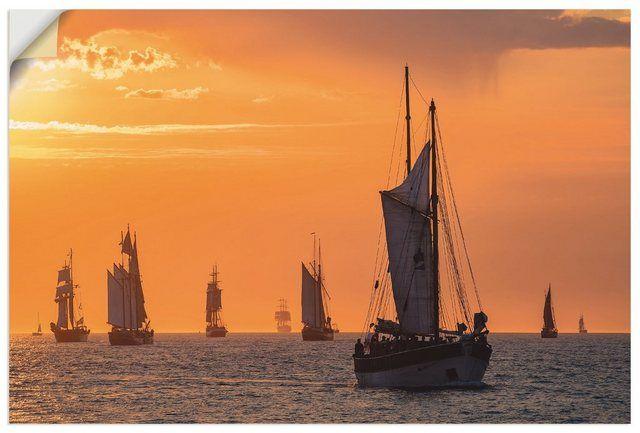 Wandfolie »R. Ködder: Segelschiffe auf der Hanse Sail«