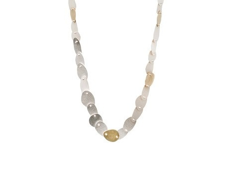 Neckpiece by Debbie Sheezel Sterling silver, 18ct yellow gold Available online and in store http://egetal.com.au/store/product/DBS032