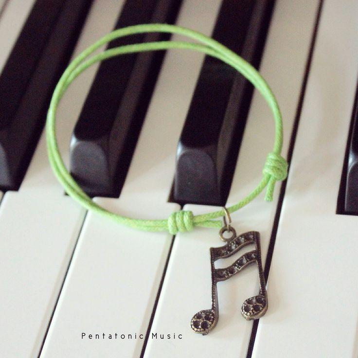 Musical Cotton Bracelet - Semiquavers2  Price : 28.000 idr. follow instagram : pentatonicmusic or website http://pentatonic-music.com