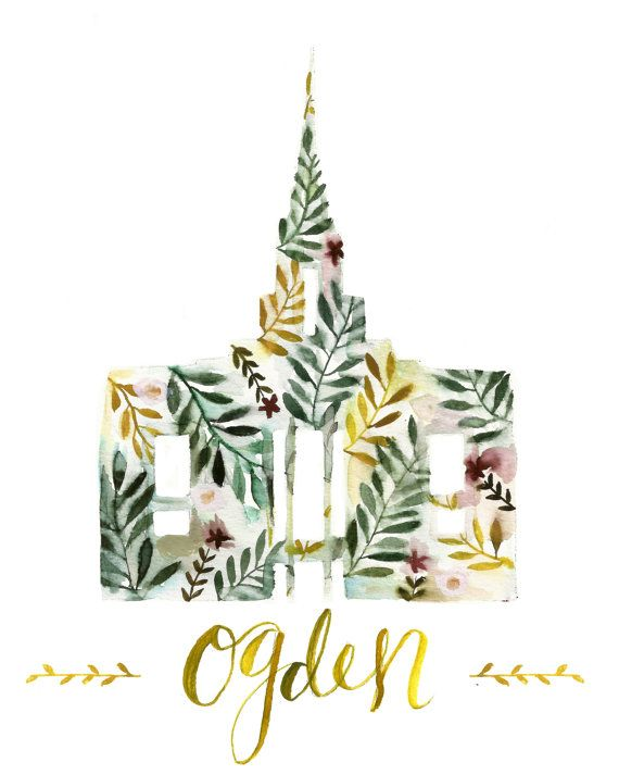 Ogden Temple by TheGroveCo on Etsy