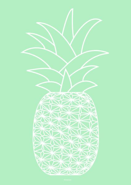Ananas frosty blue Art Print