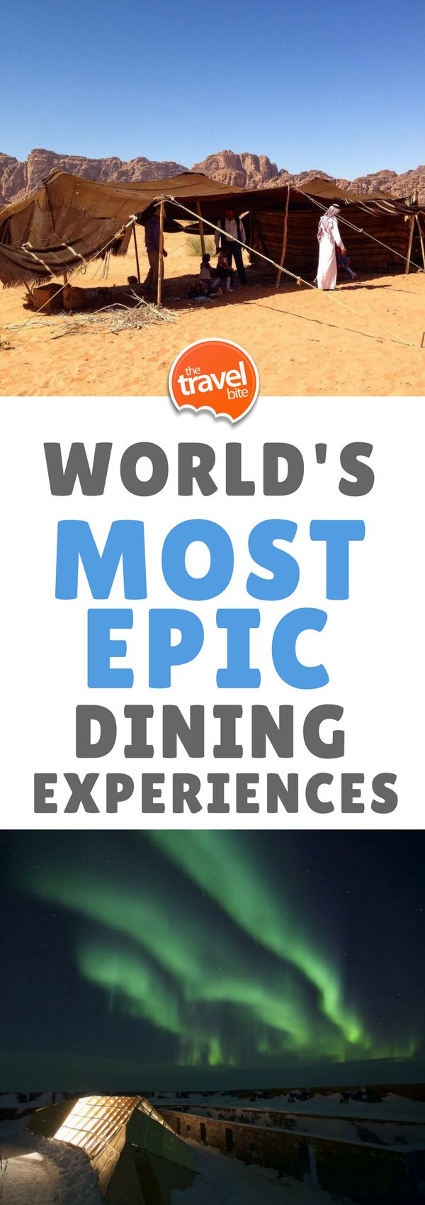 7 Of The Most Epic Dining Experiences In The World ~ https://thetravelbite.com