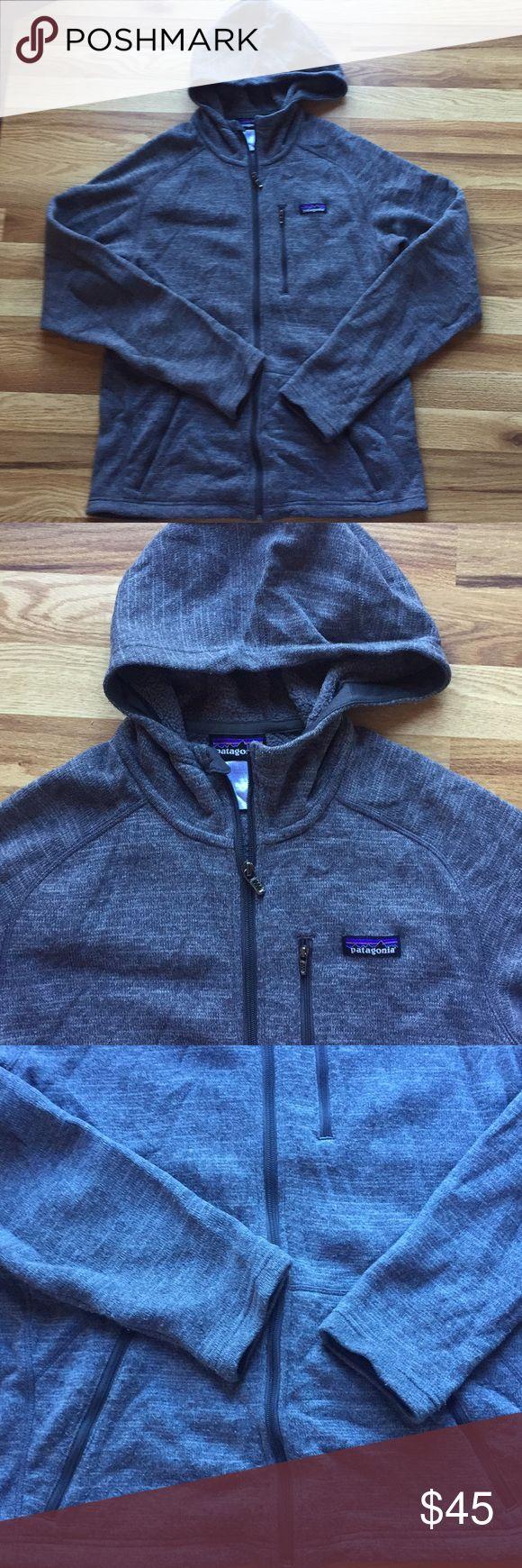 Mens Patagonia sweater Jacket Mens Patagonia Hooded  Sweater Jacket . Preloved. Breast and kangaroos zip up pockets . Has piling. Still has lots of life left Patagonia Jackets & Coats