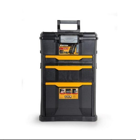 ROLLING TOOL BOX  Cart Storage Cabinet Chest Drawer Crafts Garage Mechanic Mobil #Bostitch